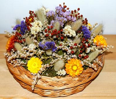 Композиция из сухих цветов.Рабта Ирины Шелег