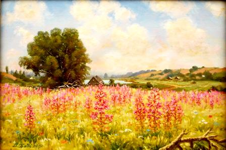 рисунки цветов,виктор батищев,иван чай