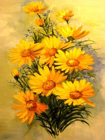 рисунки цветов,анатолий резчиков,солнечник