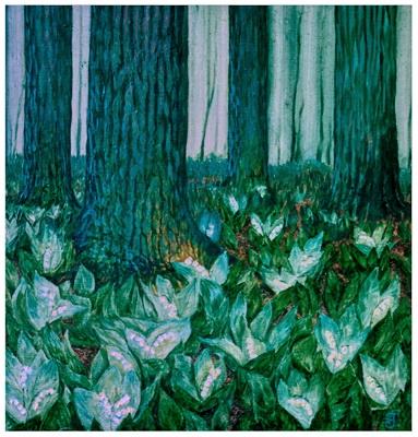 рисунки цветов,александр григорьев,ландыши