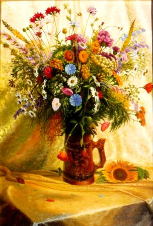 рисунки цветов,виктор батищев,полевые цветы