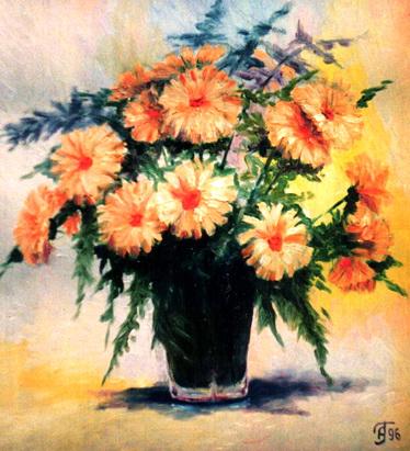 Масло холст цветы