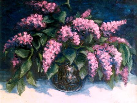 рисунки цветов,александр григорьев,сирень