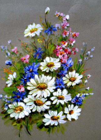 рисунки цветов акварелью, полевые цветы, акварель, алевтина лаврененкова