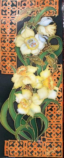 цветы в батике,батик,ирина куприянова