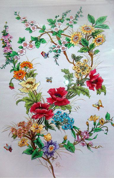вышивка цветов, кучко раиса дмитриевна, художественная вышивка